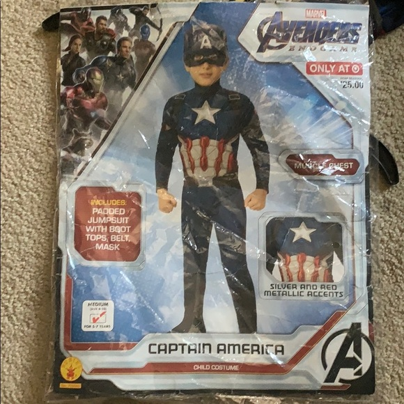 Gently Used Captain America Child Costume